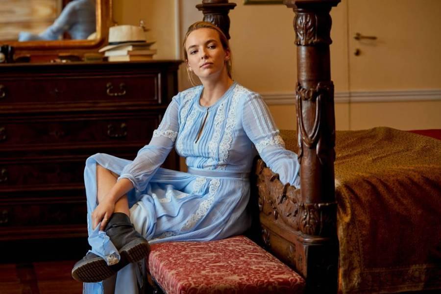 blue-lace-Burberry-dress-Killing-Eve